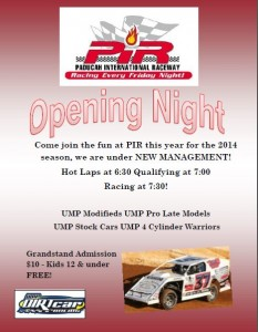PIR OPENING NIGHT!